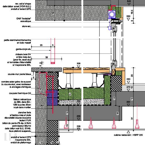 D tails techniques noeuds constructifs lia bureau d Architecture technique